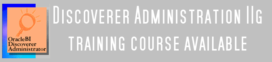 Discoverer Administration courses