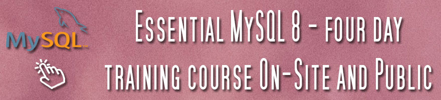 Click to view MySQL 8 course details