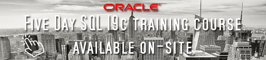 Latest Oracle SQL training