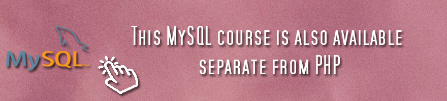 MySQL 8 with PHP course